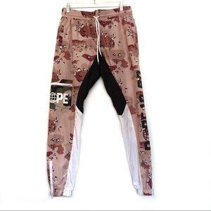 [DOPE] Desert Camo Windbreaker Pants w Lining M
